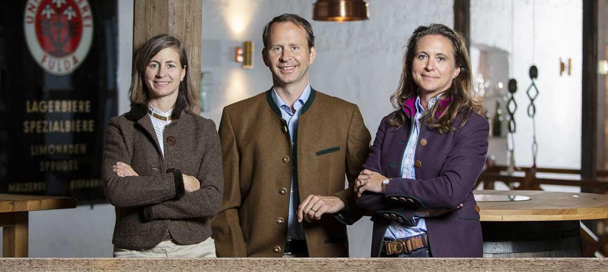 Die Inhaberfamilie (vo. li. n. re.) Ruth, Ulrich und Julia Klesper